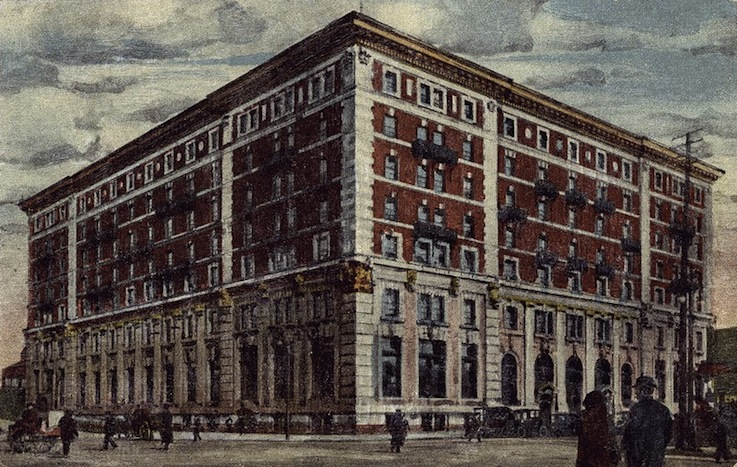 A painting of the hotel as it looked early in the century